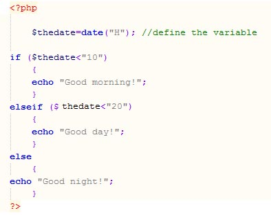 php example code wha is php